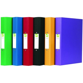 2 Ring Polypropylene Assorted A4 Binder (10 Pack)