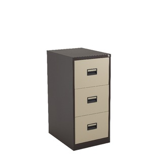 alos 3 Drawer Filing Cabinet Coffee Cream