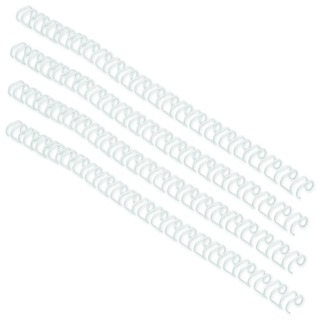 WireBind 3:1 No4 6mm A4 White Binding Wires (100 Pack) RG81047