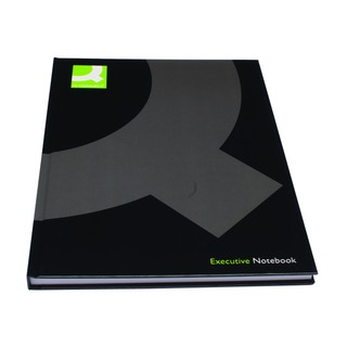 Casebound A4 Hardback Notebook 192 Pages Black (3 Pack)