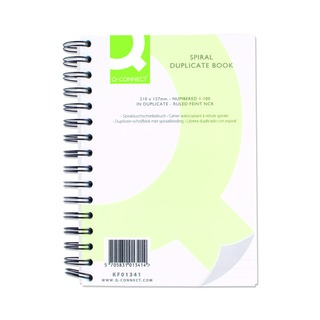 Wiro Bound Carbonless Duplicate Book 8x5 Inches
