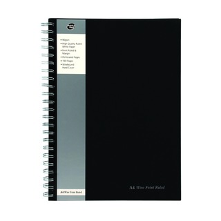 A4 Wirebound Hardback Feint Ruled Notebook (5 Pack) SBWRULA4
