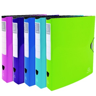 A4 Polypropylene Ring Binder Assorted Pack of 6 54870E