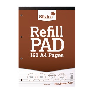 Refill Pad A4 Punched 4 Hole Headbound 80 Leaf Ruled Feint (6 Pack) A4RPF