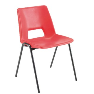 Polypropylene Stacking Red Chair