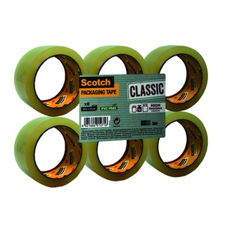 Clear Packaging Tape Polypropylene 50mm x 66m (6 Pack) C5066SF