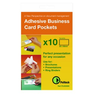 Business Card Holder Side Opening 60x95mm (10 Pack) PLH