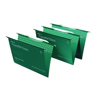 Crystalfile Classic Suspension File Complete Foolscap Green (50 Pack)