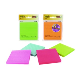 Post-it Assorted Neon/Ultra Super Sticky Notes 4x4 90 Sheets 7000511567