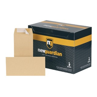 DL Envelope Heavyweight 130gsm Pocket Peel and Seal Manilla (500 Pack)
