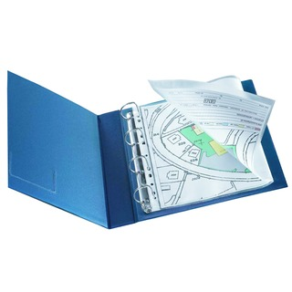 A3 Folding to A4 Glossy Top Opening Punched Pocket (10 Pack)