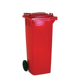 2 Wheel Red Refuse Container 120 Litre 33