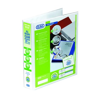 Panorama White A4 Plus 40mm 4 D-Ring Presentation Binder (10 Pack) 4000013