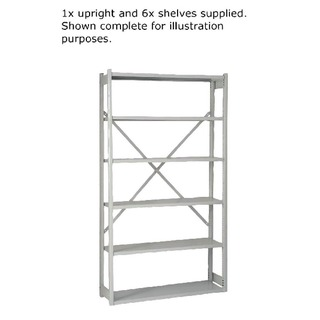 Shelving W1000xD300mm Grey Extension Kit