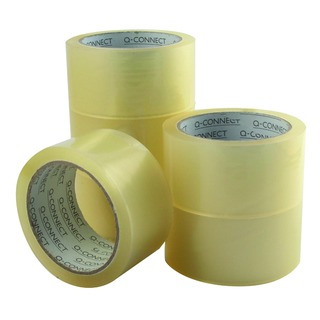 Low Noise Polypropylene Packaging Tape 50mm x 66m Clear (6 Pack)