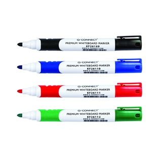 Assorted Premium Drywipe Whiteboard Markers Bullet Tip (4 Pack)