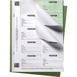 25 Page Visitors Badge Slip Book 35