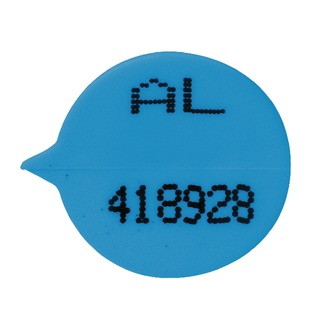 Secure Numbered Round Seal Blue (500 Pack) S3B