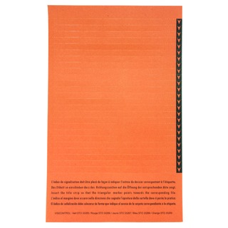 Esselte Orgarex Lateral Insert White With Orange Tip (250 Pack) 3