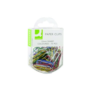32mm Coloured Paperclip (750 Pack)