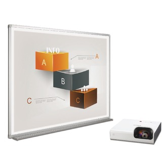 Bi-Bright 72in Whiteboard and Short Throw Projector BBS1891235