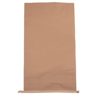 Plain Paper Waste Sack 485x150xH910mm Brown (50 Pack) 471217