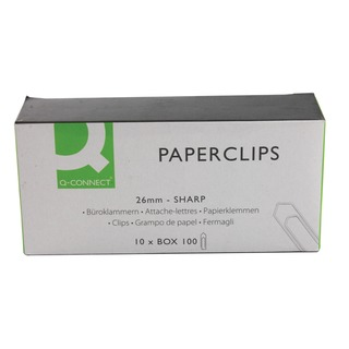 26mm No Tear Paperclip (1000 Pack)