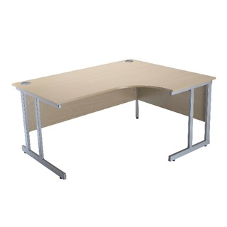 Intro Warm Maple 1500mm Radial Right Hand Cantilever Desk