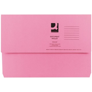 Foolscap Pink Document Wallet (50 Pack)