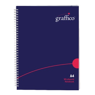Graffico Twin Wire Polypropylene A4 Notebook 140 Pages 500-0504