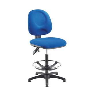 Blue Adjustable Draughtsman Chair