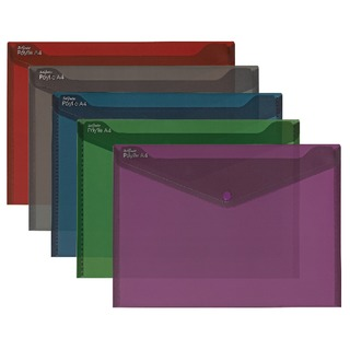 Fusion Assorted A4 Polyfile (5 Pack) 15643