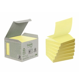 Post-it Note Recycled Z-Notes 76 x 76mm Canary Yellow (6 Pack) R330-1B
