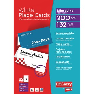 Perforated Place Cards 200gsm White (132 Pack) DPOCB3713
