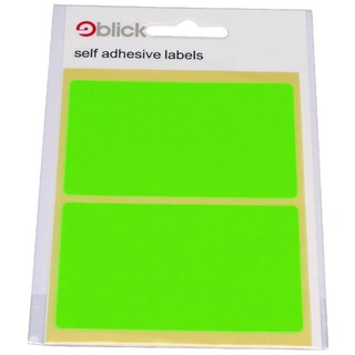 Green Fluorescent Labels in Bags 50x80mm (160 Pack) RS010654