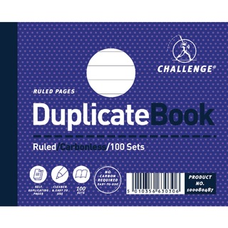 Duplicate Book Ruled Carbonless 100 Sets 105 x 130mm (5 Pack) 100080487