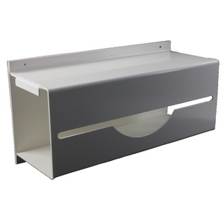 White Wall Mounted Apron on a Roll Dispenser VPPA