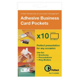 Business Card Pockets Top Opening 95x60mm (100 Pack) PLH