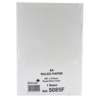 White A4 Ruled Unpunched Paper (500 Pack) 5085FEINT