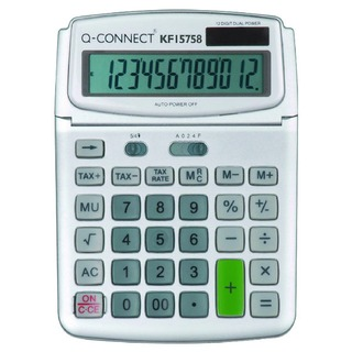 Large Table Top 12 Digit Calculator Grey