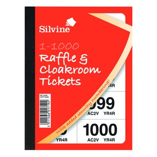 Cloakroom and Raffle Tickets 1-1000 (6 Pack) CRT1