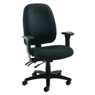 Snowdon Heavy Duty High Back Charcoal Chair With Lumbar Support