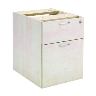 Maple 2 Drawer Fixed Pedestal