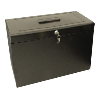 Foolscap Black Metal File Box HOBlack