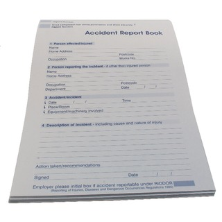 Accident Report Book 5401015