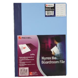 Nyrex Blue A4 Boardroom Files (5 Pack)