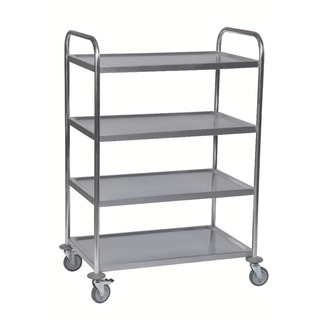 4-Tier Stainless Steel Silver Service Trolley 375426