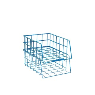 Wire A4 Large Capacity Blue Filing Tray WB999BL