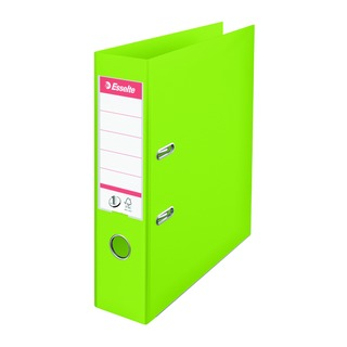 Esselte Polypropylene A4 75mm Lime Green Lever Arch File (10 Pack) 624069