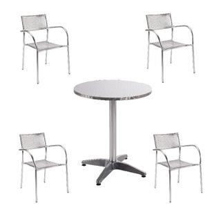 Aluminium Bistro Table and Chairs Bundle